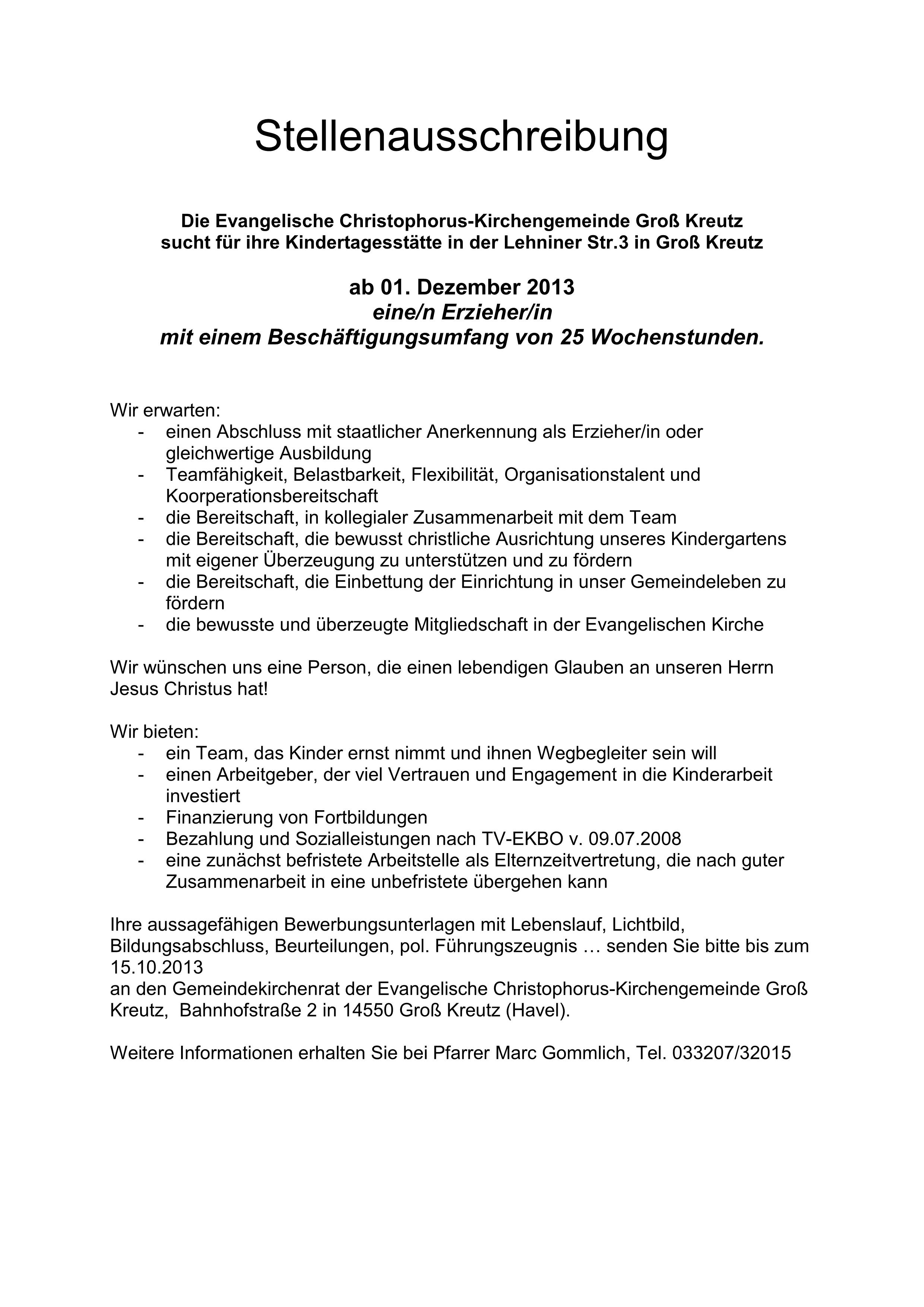Bewerbungsschreiben Muster Bewerbungsschreiben Kindergarten